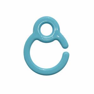 Kunststof speenkoord clip/ring