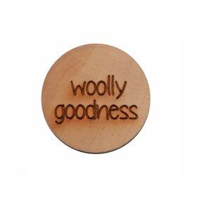 Houten knoop 2.5cm Woolly goodness