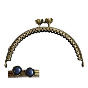 Portemonneesluiting 10,5cm bloemknop donkerblauw