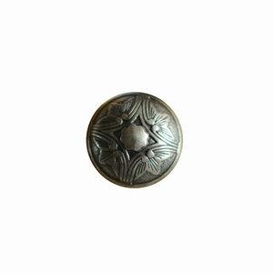 Metalen knoopje oud zilver 2cm
