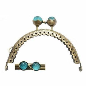Portemonneesluiting met knop in turquoise