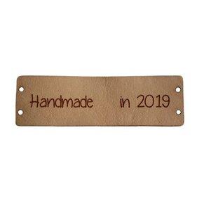 Leren label Handmade in 2019