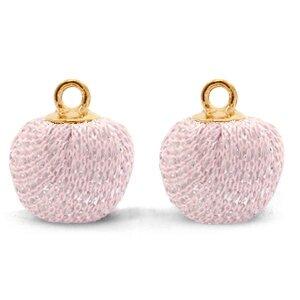 Bedel Pompom licht roze/goud