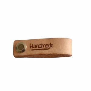 Leren label Handmade Haaknaald