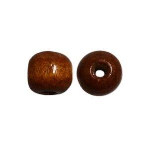Houten kraal 10mm bruin macrame
