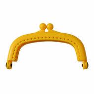 Portemonneesluiting geel kunststof