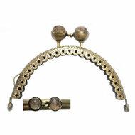 Portemonneesluiting met knop in brons